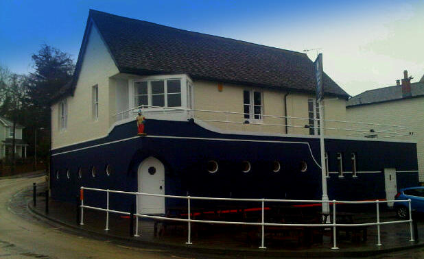The Pilot Boat Inn, Bembridge Isle of wight. the only pub on the Harbour. Looks like an Ocean liner