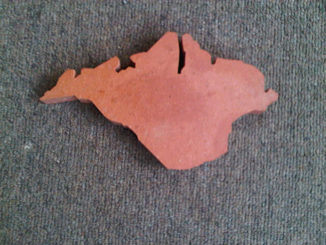 Terracotta Outline of the Isle of Wight